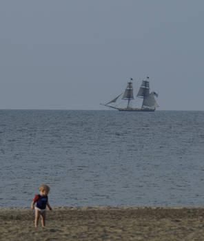 Boy and Ship