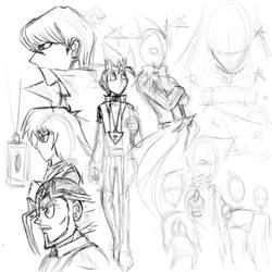 Duelist Kingdom - WIP Sketch 1 by Horoko