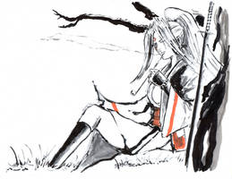 Baiken in the Tranquility by Horoko