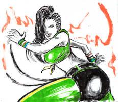 Inktober #12 - Laura Samba by Horoko