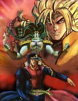 Dio v Jotaro: Dawn of the World by Horoko