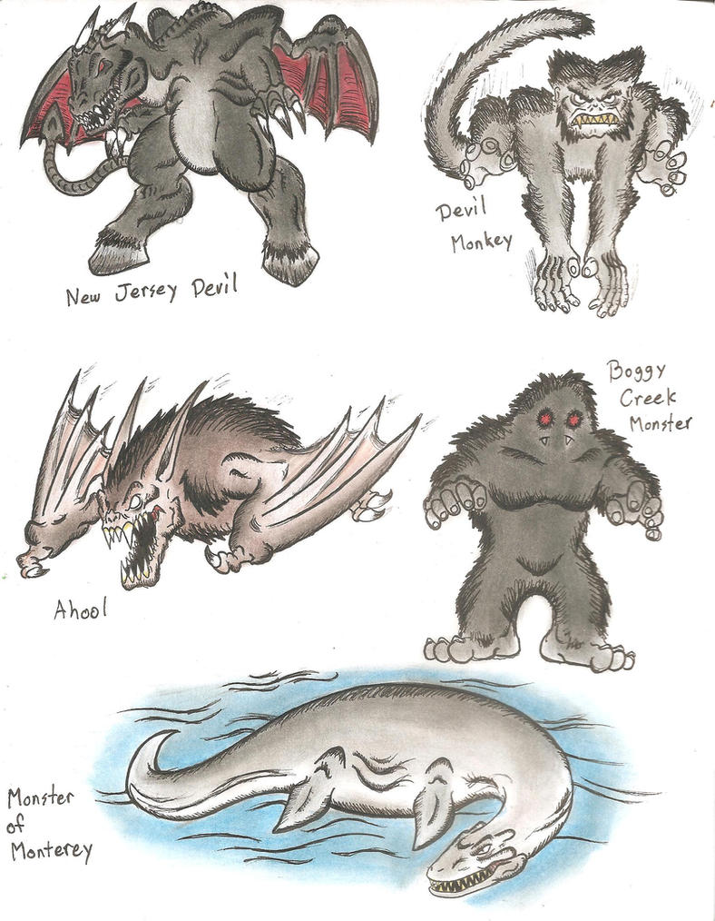 MiniMonsters Cryptozoology 5 By MonsterKingOfKarmen