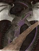Gift - Maleficent Dragon Form by MonsterKingOfKarmen