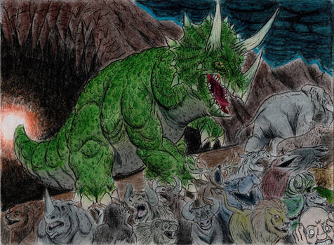 The Very Angry Triceratops