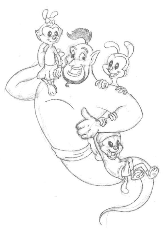 Misc.: Genie's new BFFs by NicGiraffe