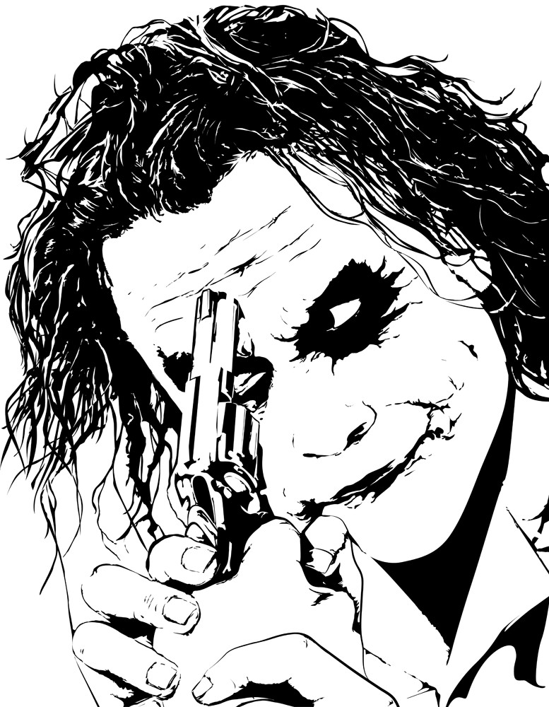 The Joker Line Art : The joker lineart by emartens on deviantart