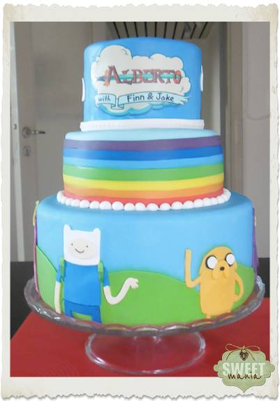 adventure time birthday cake by sweet mania on deviantart
