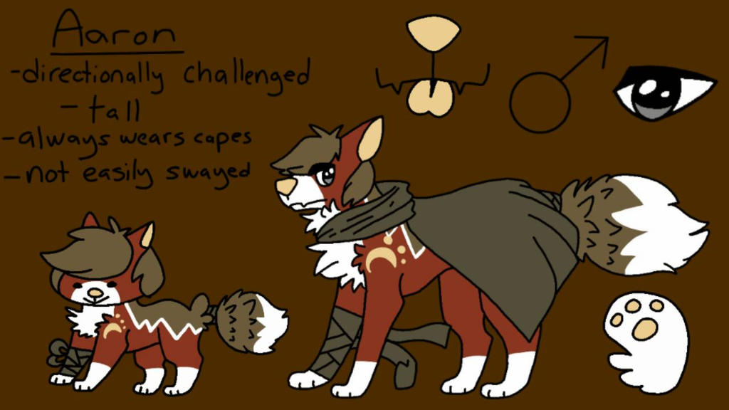 Aaron reference sheet by Kai-My-Guy