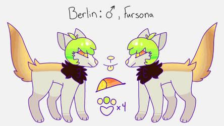 New fursona! (Berlin ref) by Kai-My-Guy
