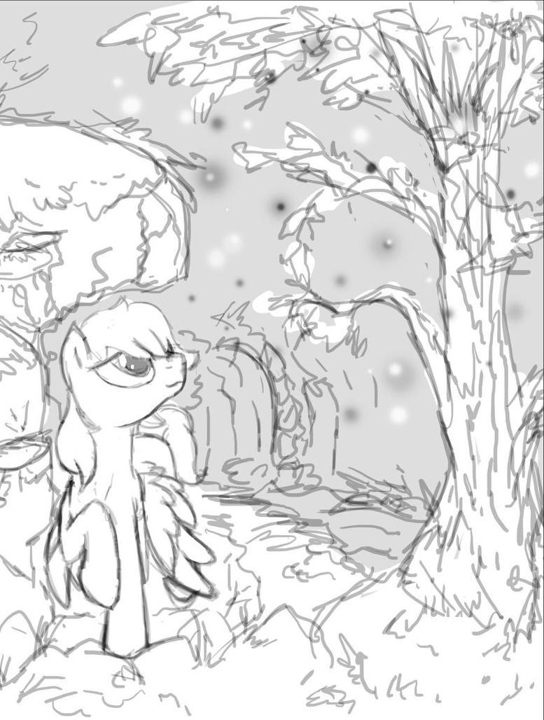 the tree of fireflies - sketch by MercyAntebellum