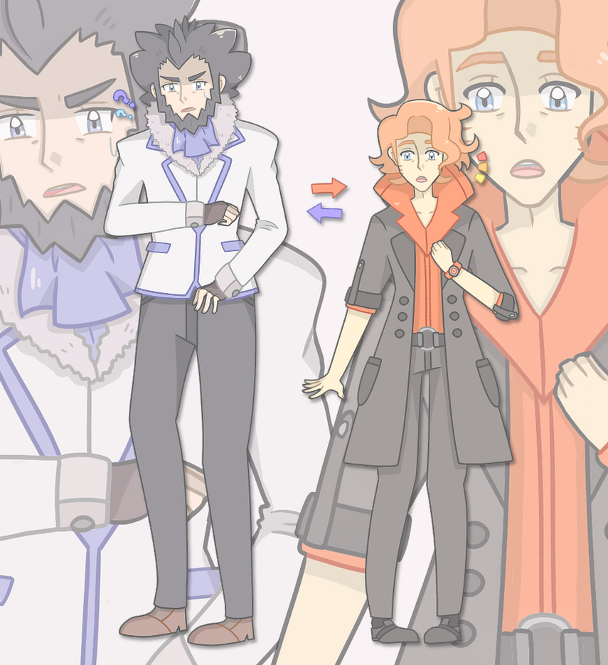 Lysandre and Sycamore Color-Swap by Miiette on DeviantArt  Lysandre and Sy...