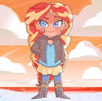 Sunset Shimmer chibi (commission) by Miiette