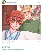 Italy and Germany selfie (aph) by Miiette