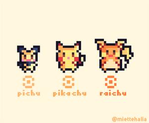 Pikachu family pixelart