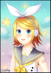 Vocaloid Fanart: Rin Kagamine by EddieFoxy