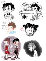 Klaine - Spam Doodles 2 by Sunshunes