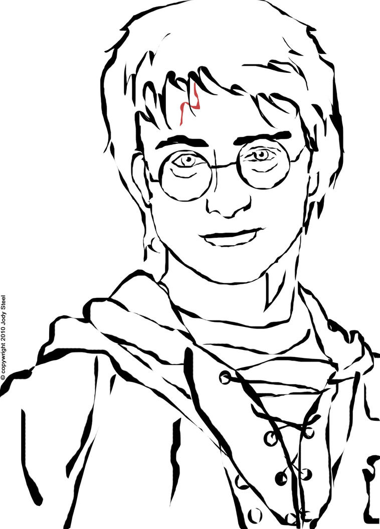 Line Drawing Harry Potter : Harry potter by brodzillla on deviantart
