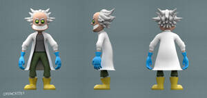 Mad Scientist - Character Turnaround
