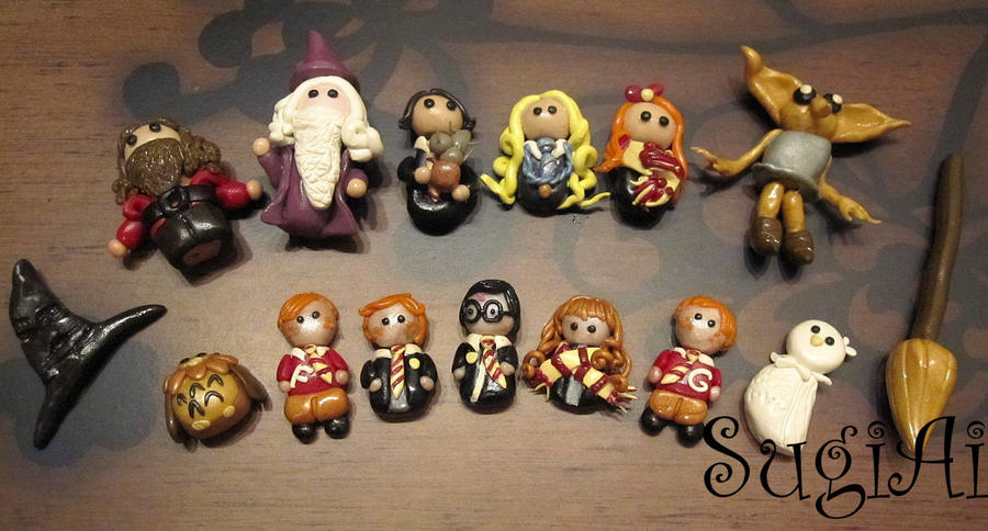 Harry Potter Magnets by SugiAi