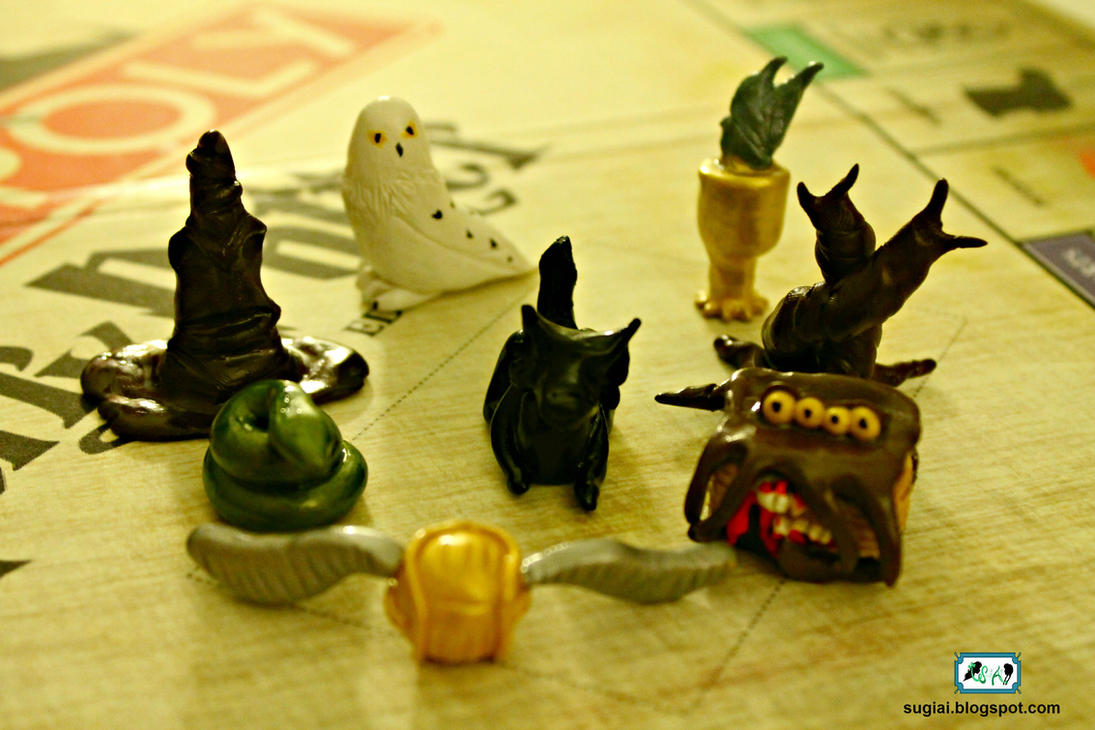 Clay Harry Potter Monopoly Pieces By Sugiai On Deviantart