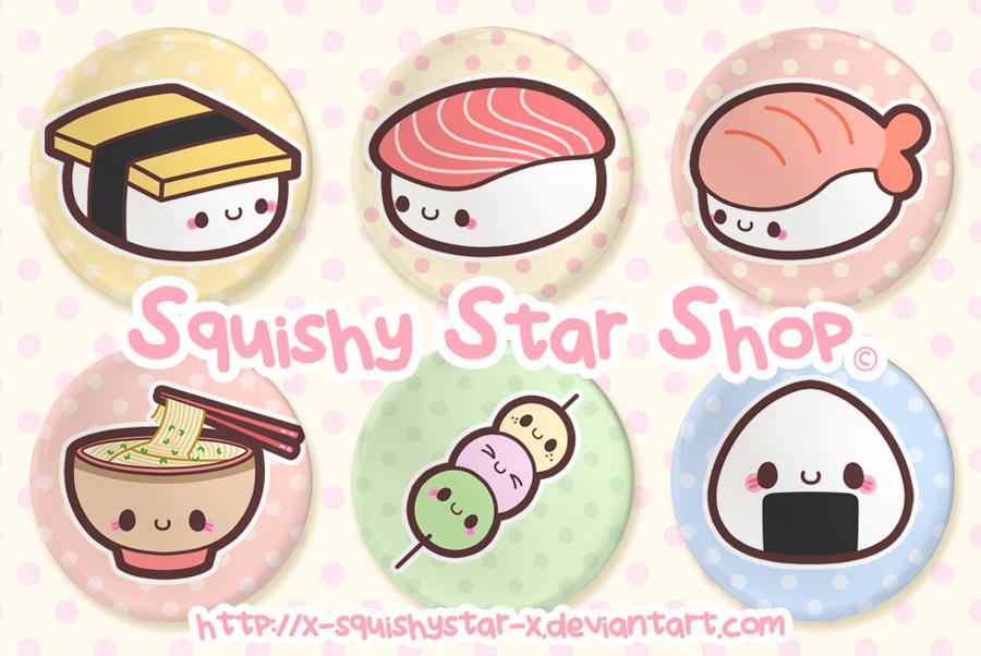 Happy Japanese Food button set by x-SquishyStar-x on ...