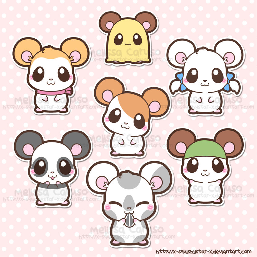 Hamtaro and Friends by x-SquishyStar-x