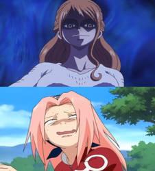 Nami scares Sakura