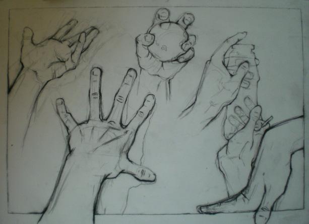 Line Art Hand : Hands study by heartgear on deviantart