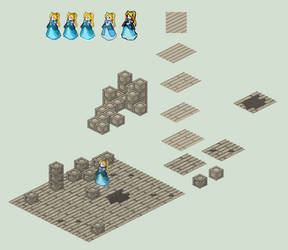 Isometric Components - Blocks, Floor, and Sprite by HeartGear
