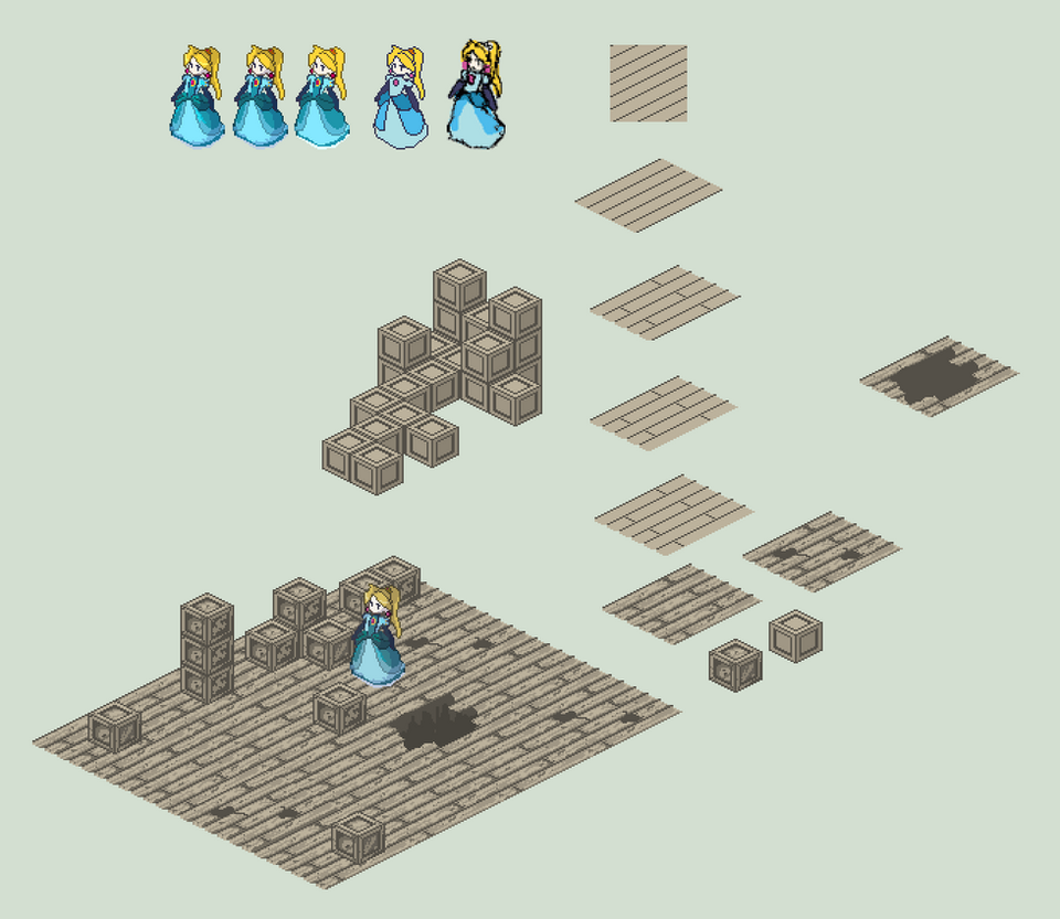 Isometric Components - Blocks, Floor, and Sprite by HeartGear on ...