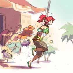 Gerudo Link by HeartGear on DeviantArt
