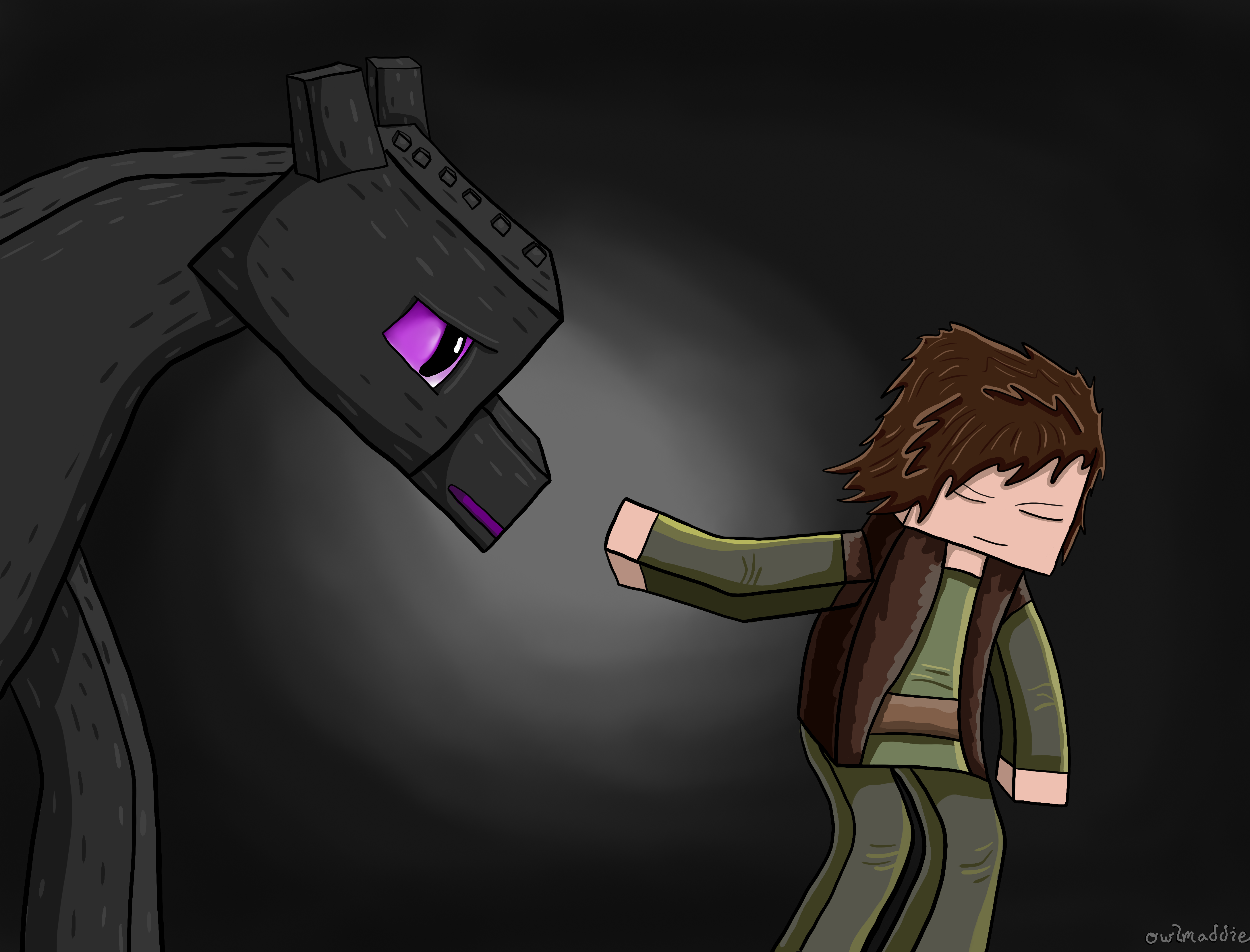 Deadlox Minecraft Skin Taming the Ender by ow...