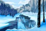Pixel Snow Landscape