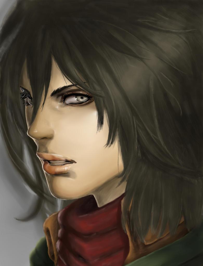 Shyvana to Mikasa redraw by Neka-chi