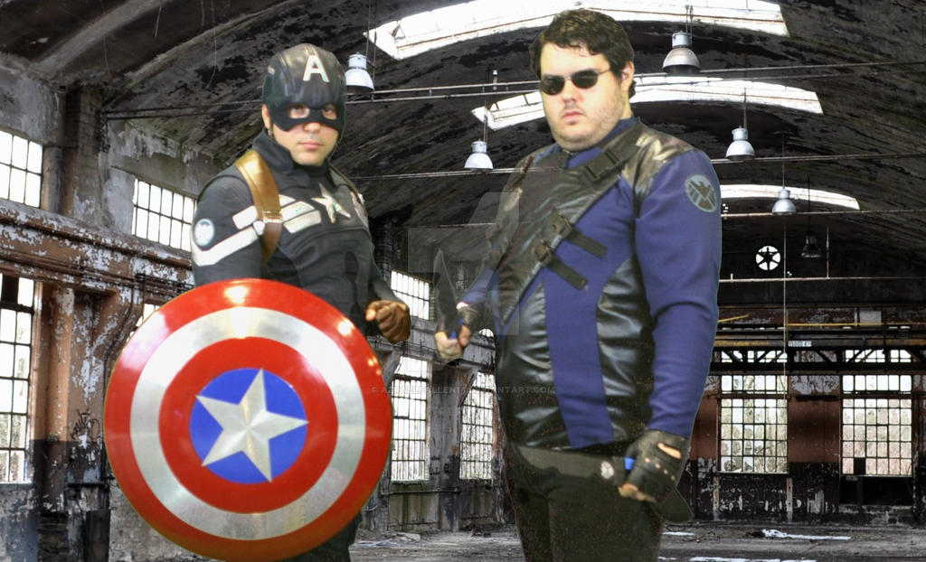 Agent Jackdaw and Captain America in the field by AzraelFallen18