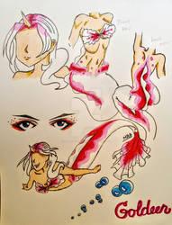 Goldeen Cosplay - Mermaid Tail Version