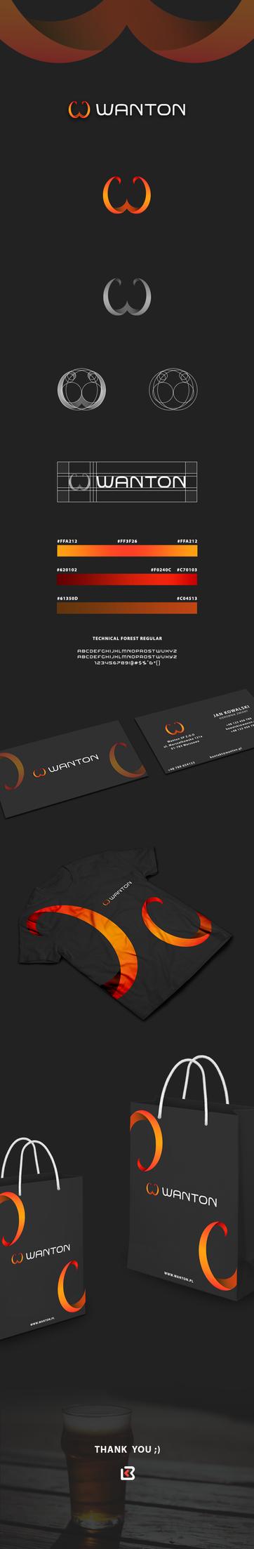 Wanton - Corporate Identity Concept by KamilBachanek