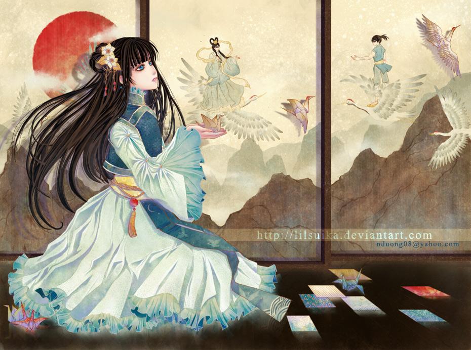 Paper Crane by lilsuika