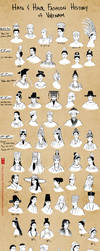Hats and Hair Fashion History: Vietnam by lilsuika