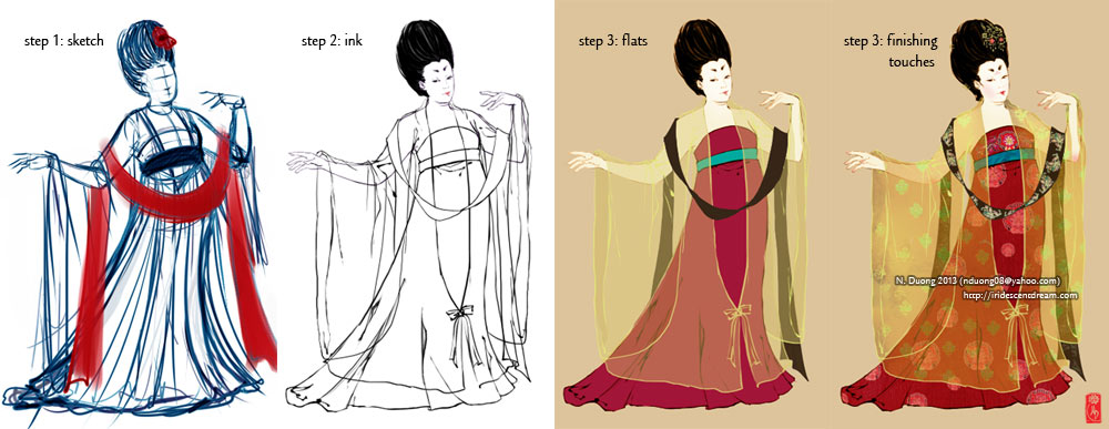 Coloring process of Tang Dynasty Lady by lilsuika