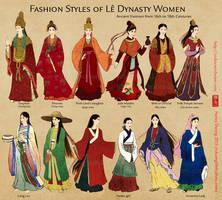 Fashion Styles of Le Dynasty Women