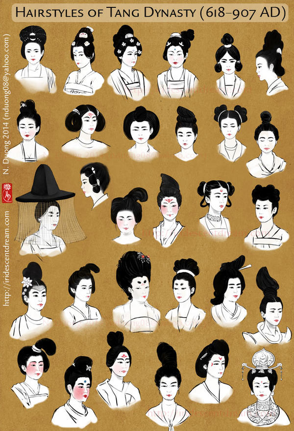 Hairstyles Of China S Tang Dynasty Women By Lilsuika On