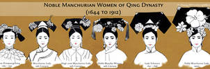 Noble Manchurian Women of Qing Dynasty (Hair)