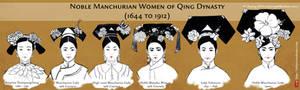 Noble Manchurian Women of Qing Dynasty (Hair)