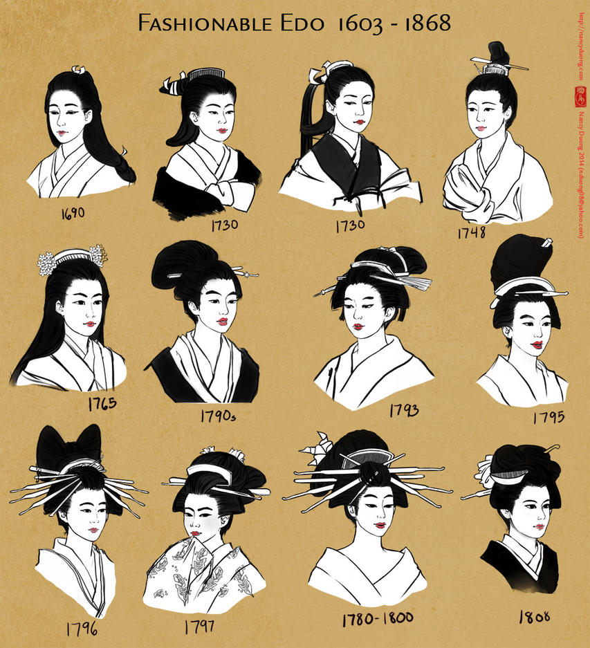 Edo Hairstyles By Lilsuika On Deviantart