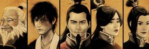 ATLA - Fire Nation Family II by lilsuika