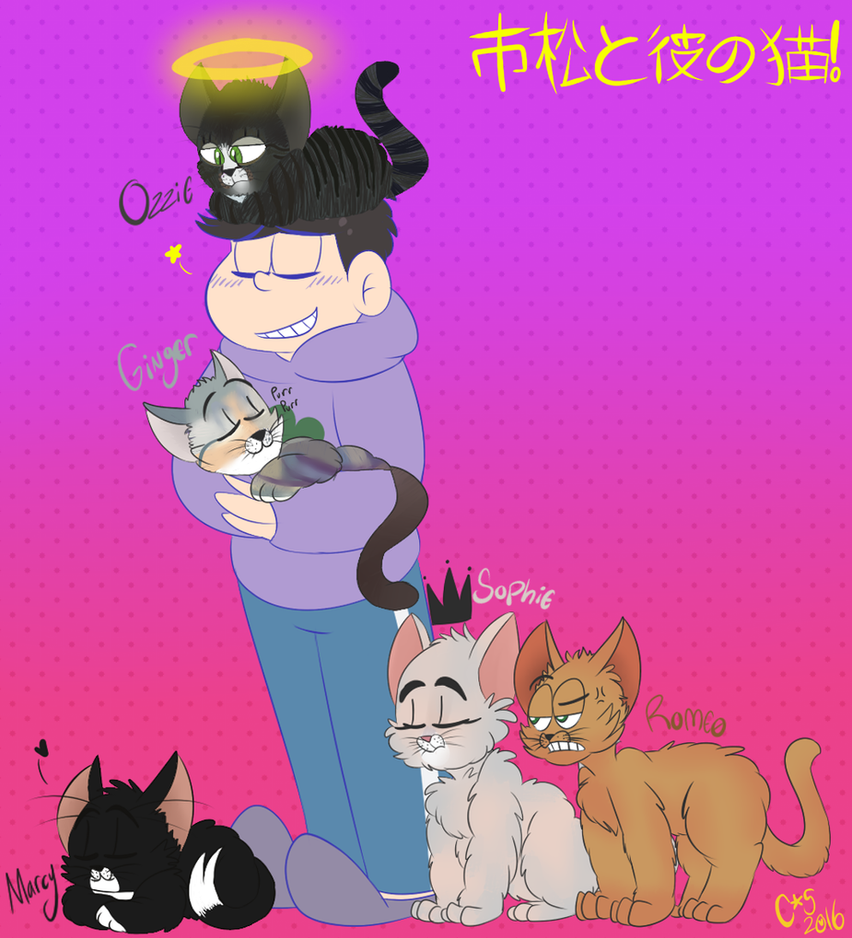 Ichi And His Cats by ceeceeroxx