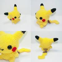 Pikachu by Heartstringcrochet