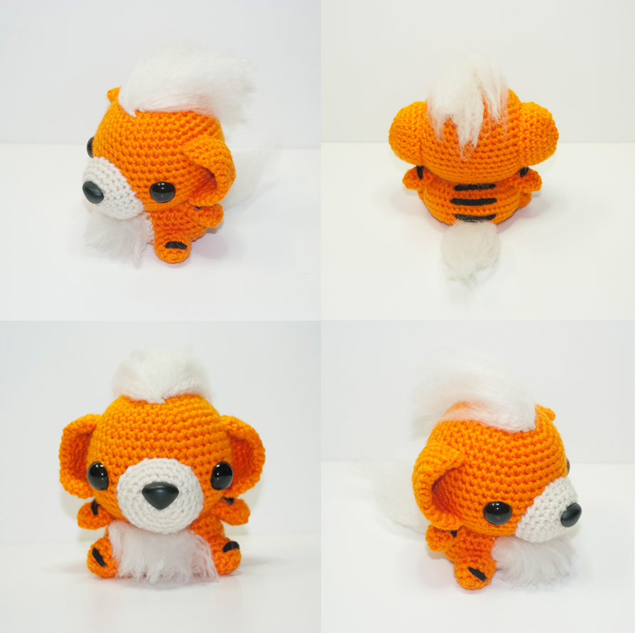 Growlithe by Heartstringcrochet on DeviantArt