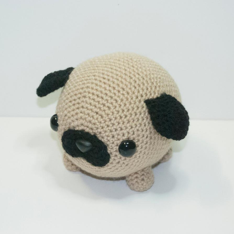 Free Crochet Pug Rug Pattern : pudgy the pug by Heartstringcrochet on DeviantArt